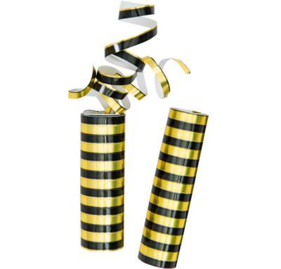 Black & Gold Foil Serpentines 2ct