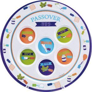 Passover Melamine Seder Serving Tray