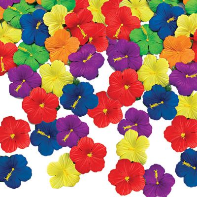 Tropical Flower Table Sprinkles 24ct