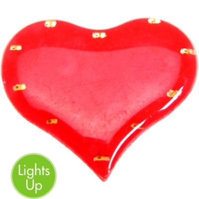 Light-Up Heart Pin