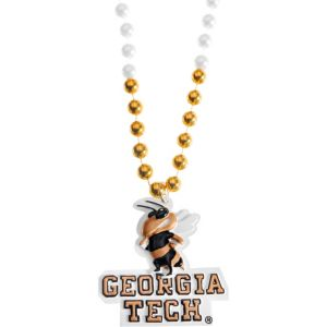 Georgia Tech Yellow Jackets Pendant Bead Necklace