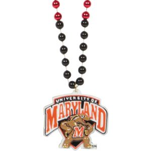 Maryland Terrapins Pendant Bead Necklace