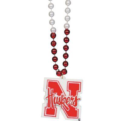 Nebraska Cornhuskers Bead Necklace 36in