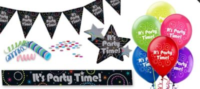 Time to Party Room Decorating Kit 11pc