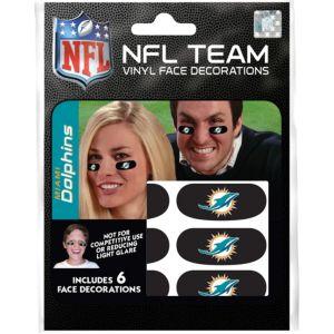 Miami Dolphins Eye Black Stickers 6ct