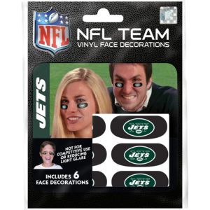 New York Jets Eye Black Stickers 6ct