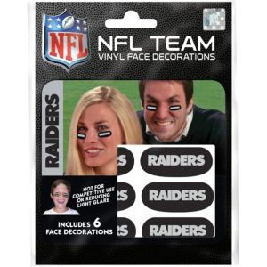 Oakland Raiders Eye Black Stickers 6ct