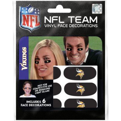 Minnesota Vikings Eye Black Stickers 6ct