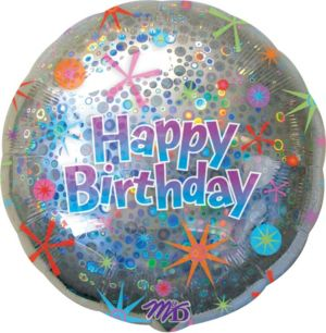 Happy Birthday Balloon - Holographic Celebration