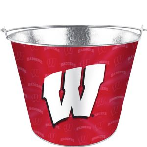 Wisconsin Badgers Galvanized Bucket