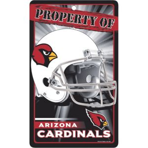 Property of Arizona Cardinals Sign