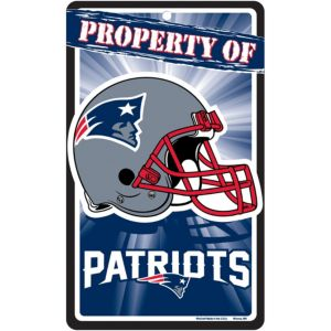 Property of New England Patriots Sign
