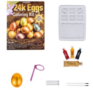 Gold Easter Egg Coloring Kit 9pc