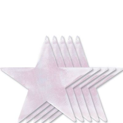 Large Iridescent Star Cutouts 5ct