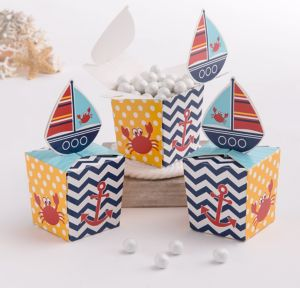 Ahoy Nautical Favor Boxes 8ct