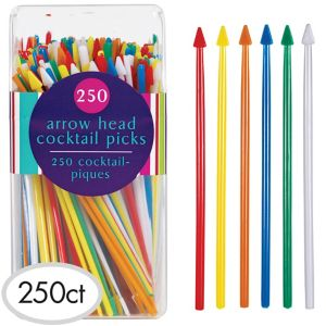 Tall Rainbow Party Picks 250ct