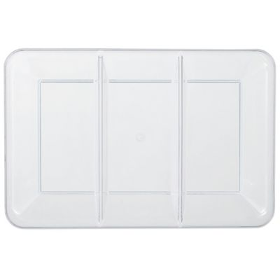 CLEAR Plastic Compartment Tray
