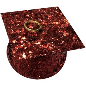 Red Glitter Graduation Balloon Weight