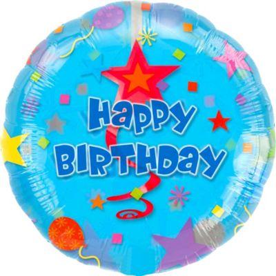 Happy Birthday Balloon - Swirl