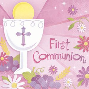 Girl's First Communion Lunch Napkins 36ct