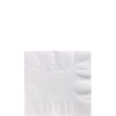 White Beverage Napkins 125ct