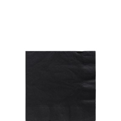 Black Beverage Napkins 125ct