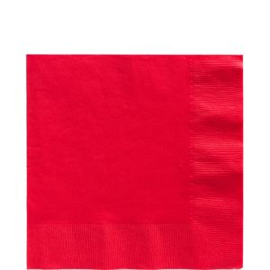 Big Party Pack Red Lunch Napkins 125ct