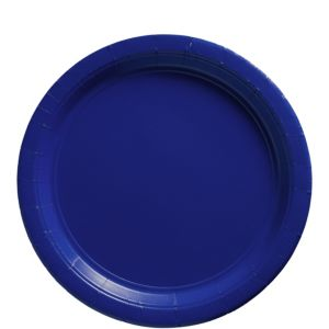Big Party Pack Royal Blue Paper Lunch Plates 50ct