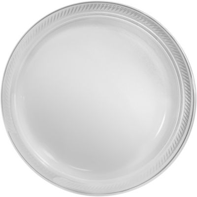 sc 1 st  Party City & Big Party Pack CLEAR Plastic Dinner Plates 50ct | Party City