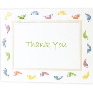 Baby Feet Baby Shower Thank You Notes 20ct