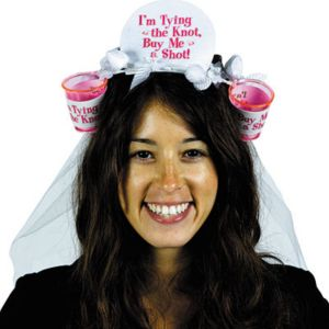 Bachelorette Veil with Shot Glasses