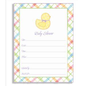 Pastel Plaid Baby Shower Invitations 20ct