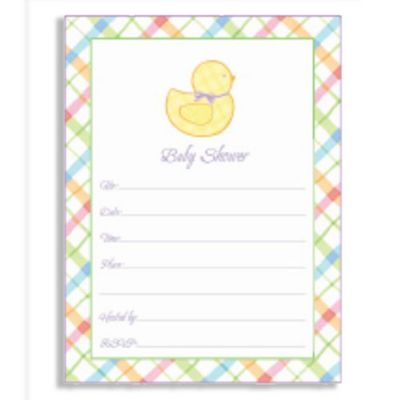 Pastel Baby Shower Invitation Value Pack 20ct