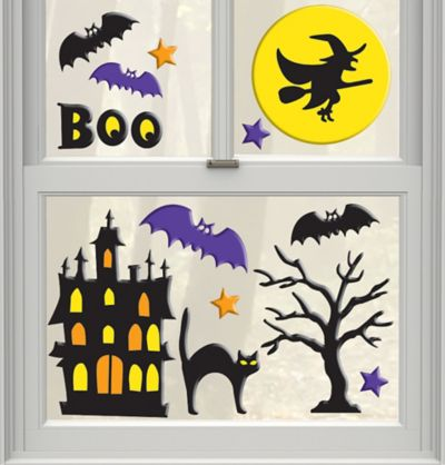 Haunted Scene Gel Cling Decals 15ct
