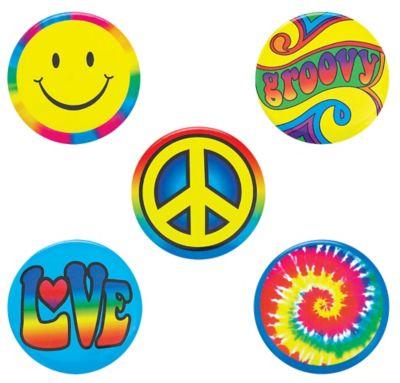 Hippie Button Set