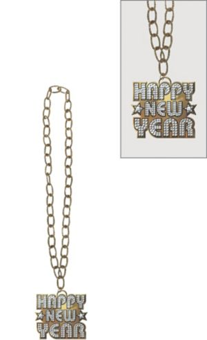 Happy New Year Bling Necklace