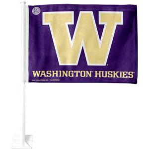 Washington Huskies Car Flag