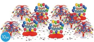Balloon Fun Happy Birthday Table Decorating Kit 10pc