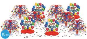 Balloon Fun Happy Birthday Table Decorating Kit 10pc