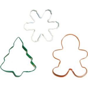 Metal Christmas Cookie Cutter Set 3pc