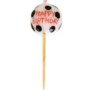Soccer Ball Birthday Candle Pick
