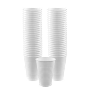 BOGO White Plastic Cups 12oz 50ct