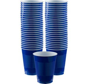 BOGO Royal Blue Plastic Cups 16oz 50ct