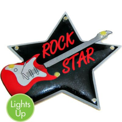 Light-Up Rock Star Pin