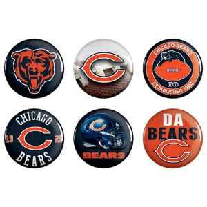 Chicago Bears Buttons 6ct