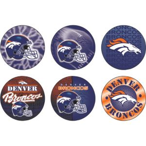 Denver Broncos Buttons 6ct