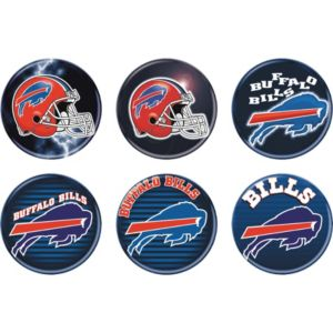 Buffalo Bills Buttons 6ct