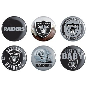 Oakland Raiders Buttons 6ct