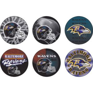 Baltimore Ravens Buttons 6ct