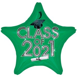 Star Class of 2016 Green Graduation Balloon